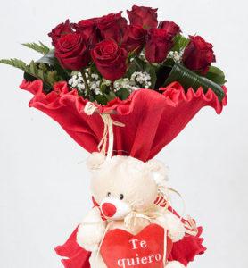 ramo de rosas rojas precio