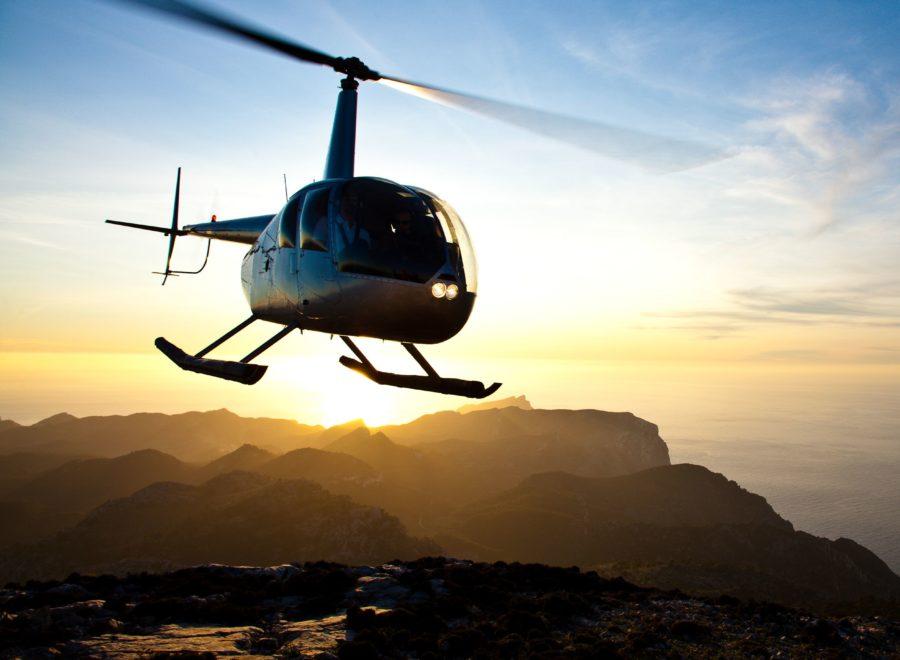 volar en helicóptero