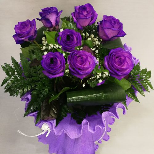 ramo 8 rosas lilas -