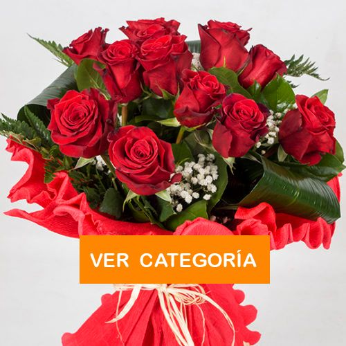 Ramo de doce rosas rojas