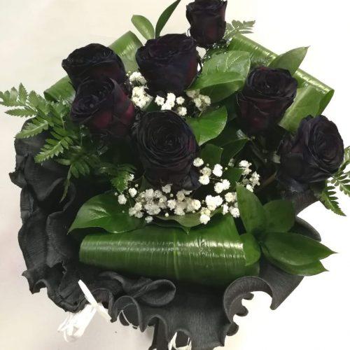 ramo 7 rosas negras