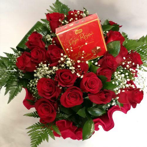 love pack 55 ( 24 rosas rojas )