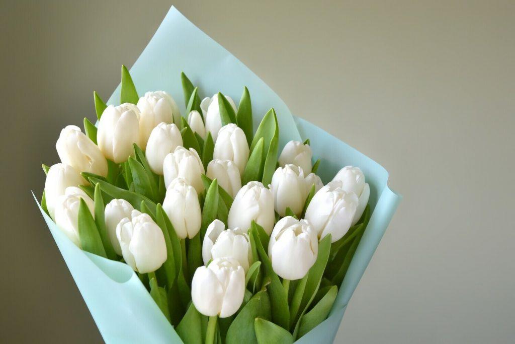 Los ramos de tulipanes cada vez son más populares