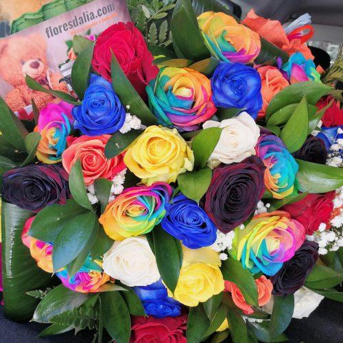 ramo rosas multicolor